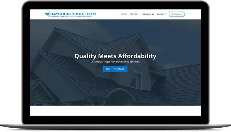 Bay County Contractor Homepage Desktop View